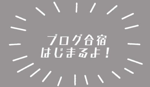 ニートちおひこ、3日間『ブログ更新合宿』を開始します!
